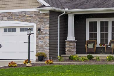 Exterior finish options for your new home.